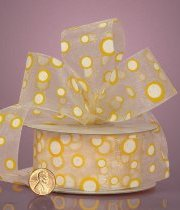Pop Dots Sheer Ribbons - Yellow