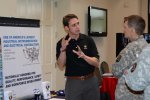 Recruiting specialist talks to Guardsman about employment opportunities