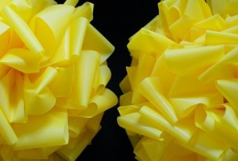 Yellow Ribbon bows for trees
