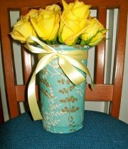Vase with Yellow Ribbon