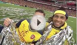 FA Cup final: Arsenal party on the pitch!